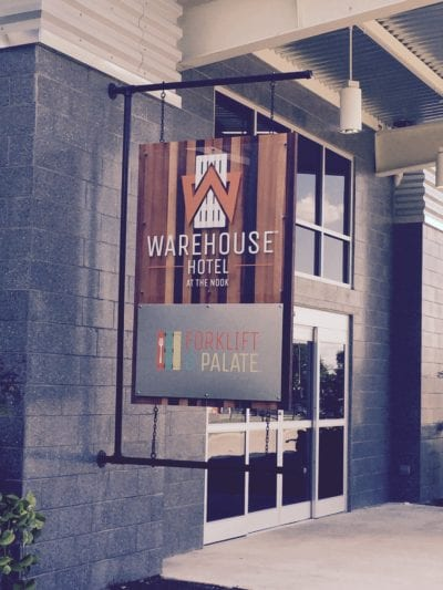 Warehouse Hotel Outdoor Signage