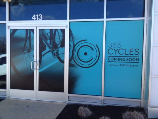 Cycles exterior sign