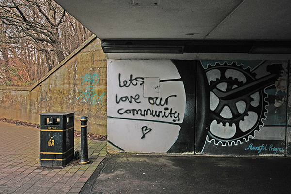 Community love graffiti