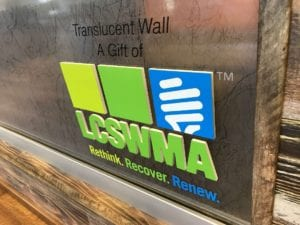 Translucent Wall Sign