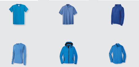 examples of apparel from Sanmar
